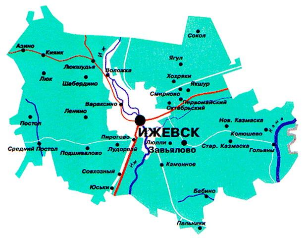 Карта завьяловского района 2